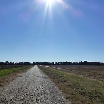 Boring Road With A Sunburst by WildestArt