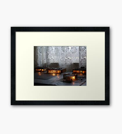 Night Time In the Village Framed Print