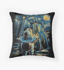 Van Goghstbusters Throw Pillow