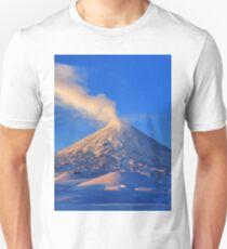 Active Klyuchevskoy Volcano at sunrise. Kamchatka Peninsula Unisex T-Shirt