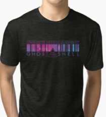 GHOST IN THE SHELL - Binary Pixels Tri-blend T-Shirt