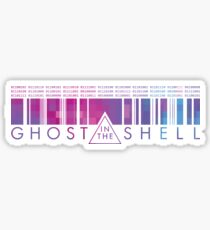 GHOST IN THE SHELL - Binary Pixels Sticker