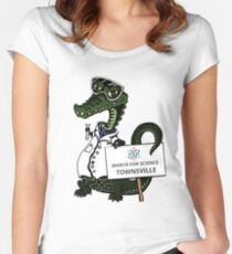 March for Science Townsville – Crocodile, full color Women's Fitted Scoop T-Shirt
