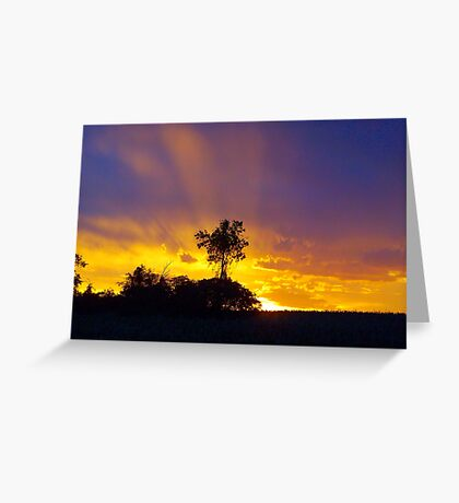 Sky like a rainbow Greeting Card