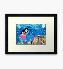 The Moon is my Balloon Framed Print