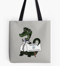 March for Science Brisbane – Crocodile, full color Tote Bag