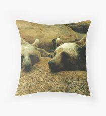 Let sleeping bears lay Throw Pillow