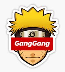 Naruto GangGang Box Logo Sticker