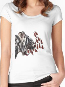 Breathing Monarchs  Women's Fitted Scoop T-Shirt