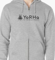 YoRHa - Black Zipped Hoodie