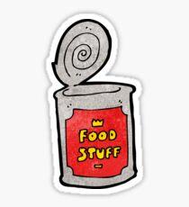 cartoon can of food Sticker