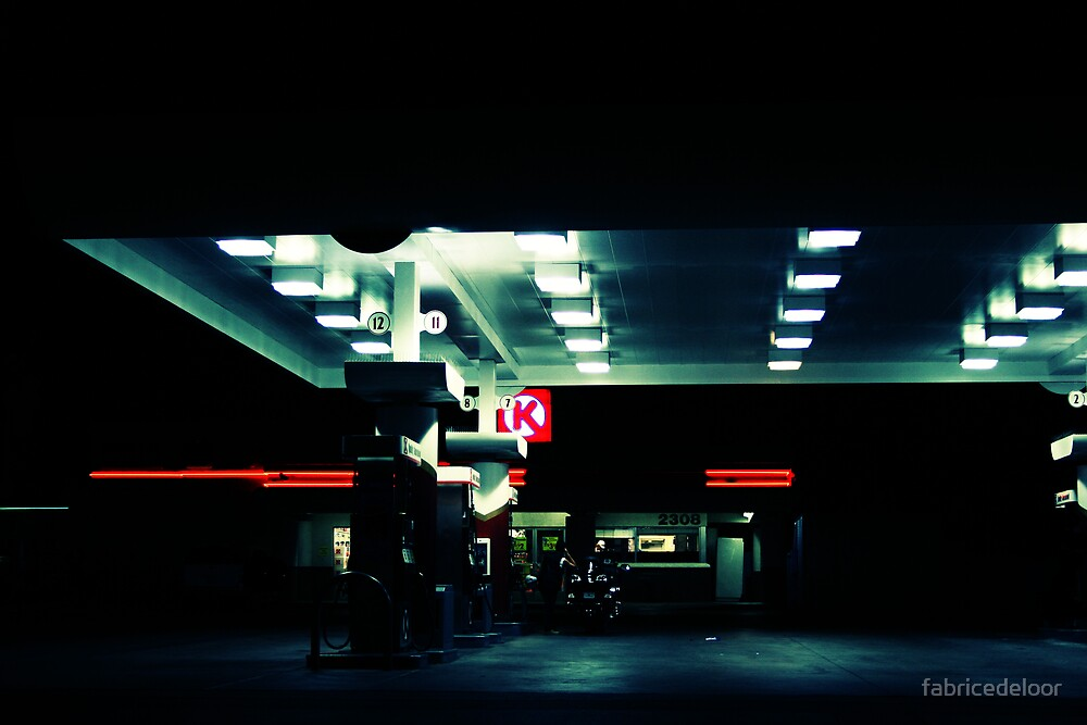 Gas Station by fabricedeloor