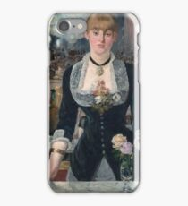 Edouard Manet - A Bar At The Folies-Bergere iPhone Case/Skin