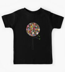 Whimsical Colorful Spring Flowers Pop Trees Kids Clothes