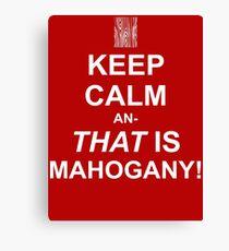 Calming Mahogany-White Canvas Print