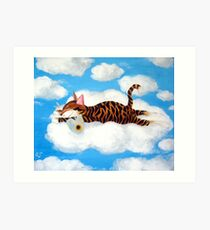 Catmasutra - Cloud 9 Art Print