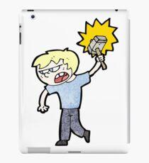 cartoon angry blond boy iPad Case/Skin