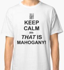 Calming Mahogany-Black Classic T-Shirt