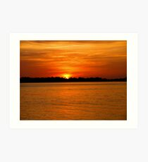 Sunset at Cedar Key Art Print