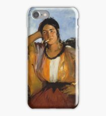 Edouard Manet - Gypsy With A Cigarette iPhone Case/Skin