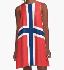 Norwegian Flag  A-Line Dress