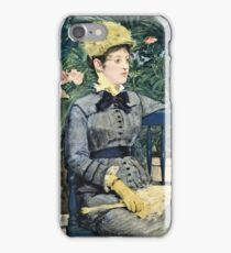 Edouard Manet - In The Conservatory (1878 - 1879) iPhone Case/Skin