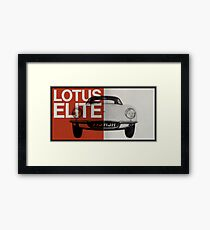 lotus elite Framed Print