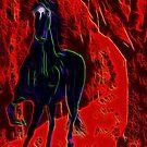 Black Magical Horse by Karen Harding