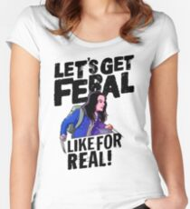 Laura gets feral Women's Fitted Scoop T-Shirt