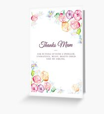 Thanks Mum Greeting Card