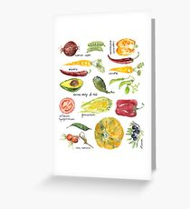 Anna's Vegetable Market Greeting Card