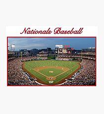Nationals Baseball Photographic Print
