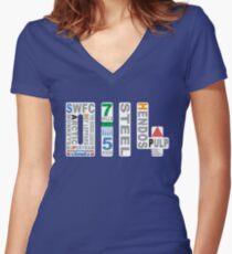 0114 Sheffield Wednesday Women's Fitted V-Neck T-Shirt
