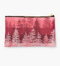 Red Forest Pattern Studio Pouch