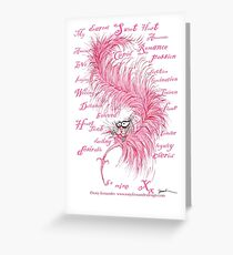 love letter pink from tony fernandes Greeting Card