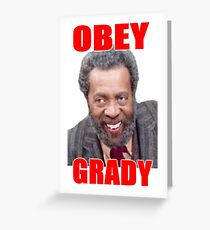Obey Grady, Classic TV Sanford and Son Greeting Card