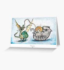 Attack of the Dragon Greeting Card