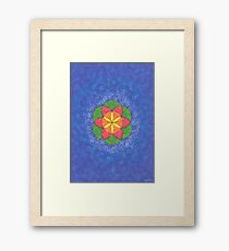 1609 - Seed Of Life In Blue And Shining Framed Print
