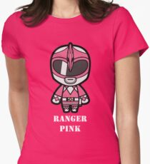Pink Ranger - its morphin time Womens Fitted T-Shirt