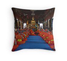Monks At Wat Suthet Throw Pillow