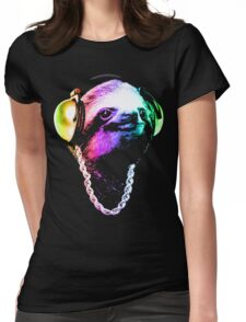 Sloth (Rainbow B-Boy Style) Womens Fitted T-Shirt