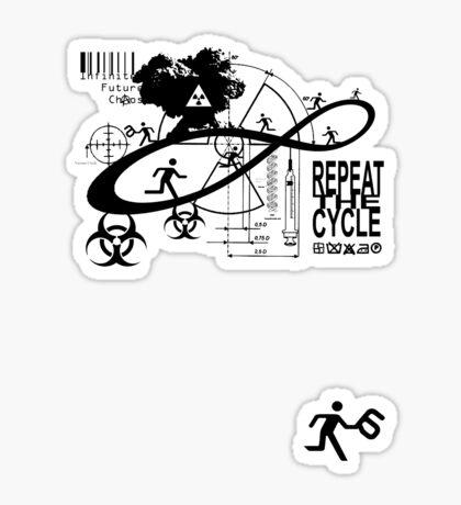 Infinite future chaos Sticker