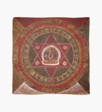 Vajrayogini stands in the center of two crossed red triangles Scarf
