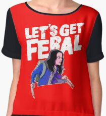 Laura gets feral Women's Chiffon Top