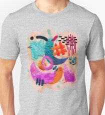 abstract embroidery Unisex T-Shirt
