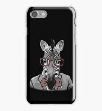 Hipster Zebra iPhone Case/Skin