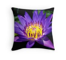 Lotus Glow Throw Pillow