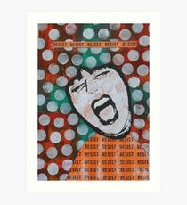 Resist Feminist Protest Art Orange Green Art Print