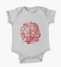 Veins of head (red) One Piece - Short Sleeve