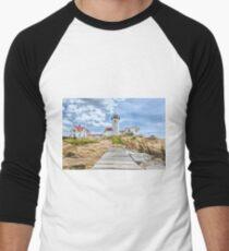The Eastern Point Lighthouse in Gloucester Men's Baseball ¾ T-Shirt